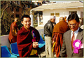Rinpoche at Dharmodaya meeting in Nepal