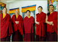 Rinpoche, Khenchen Rinpoche and other lamas in Taipei